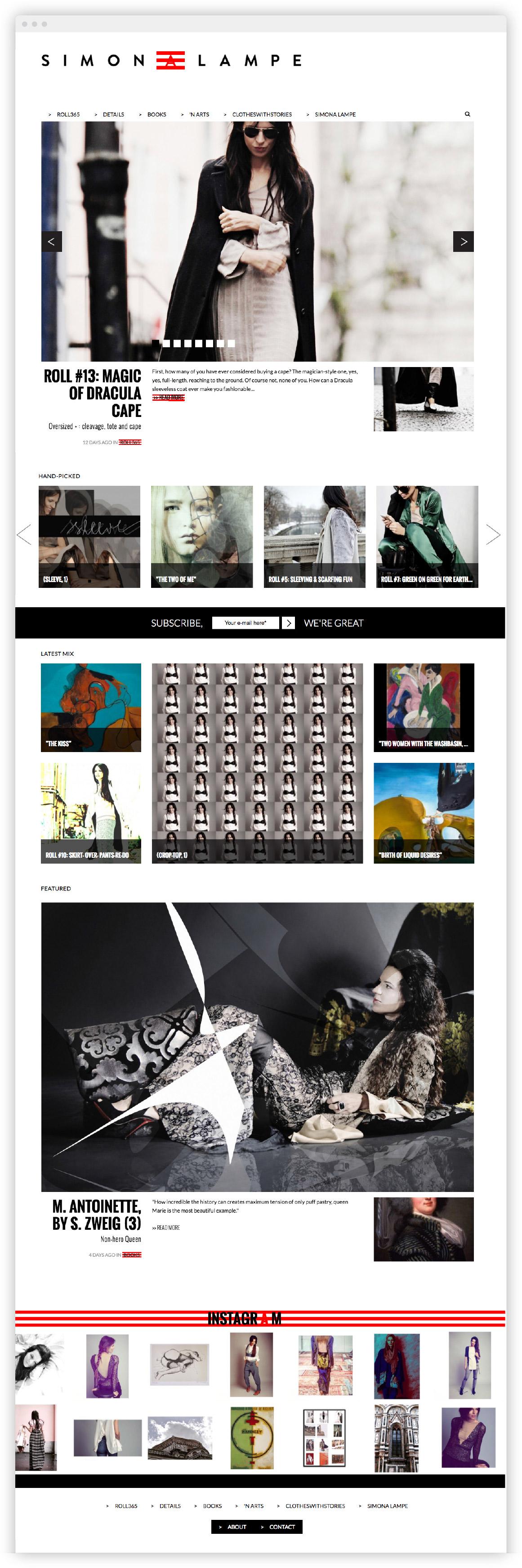 Simona Lampe izdelava spletne strani