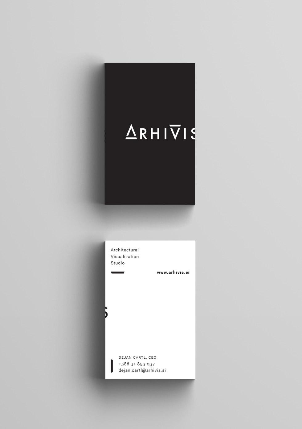 Arhivis oblikovanje vizitke