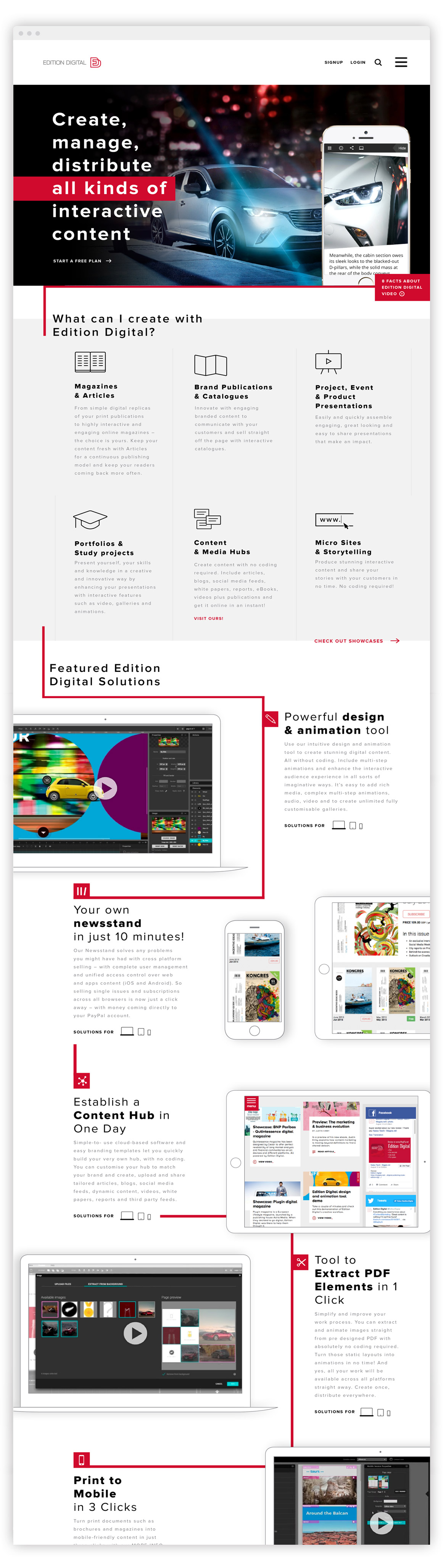 Edition Digital izdelava promocijske spletne strani
