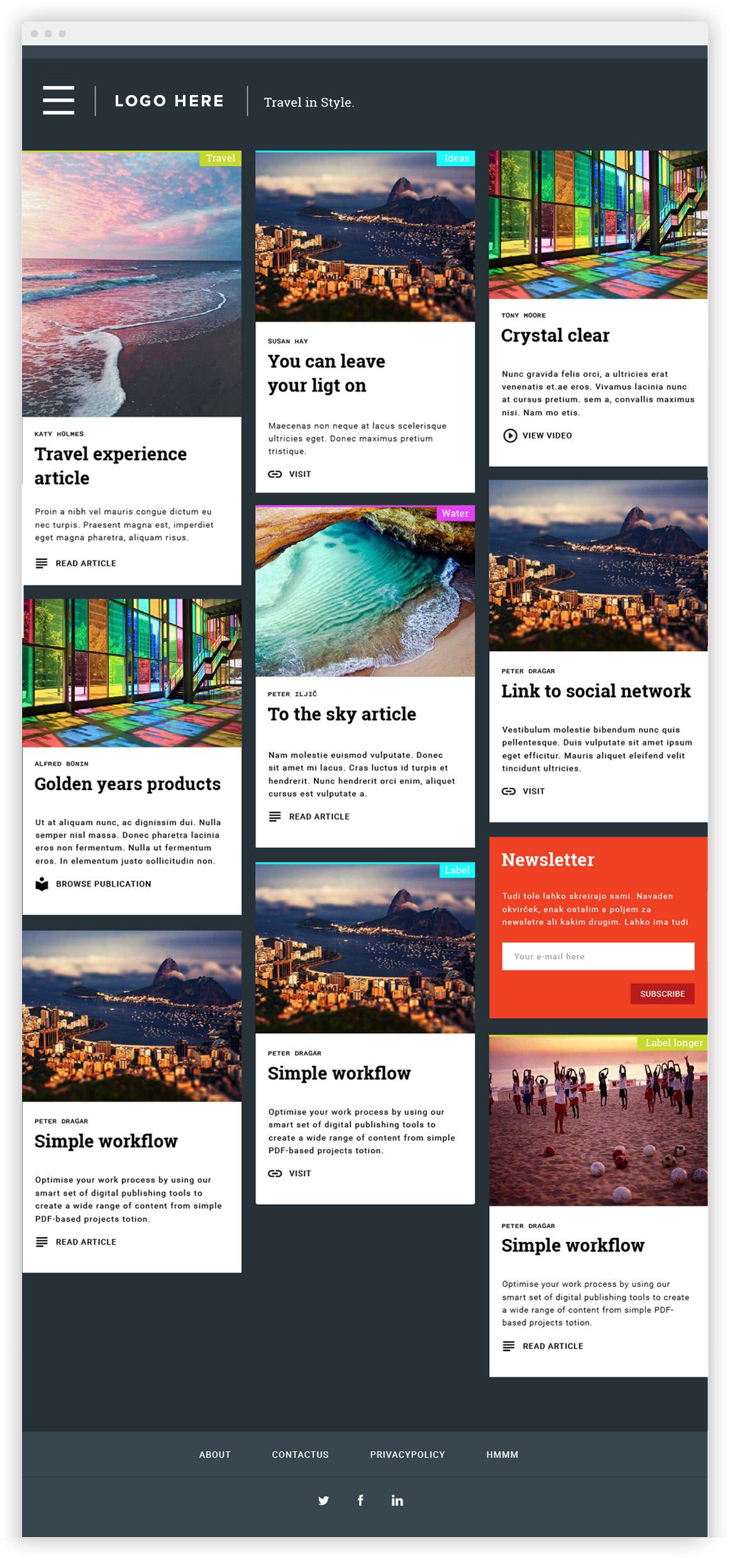 Edition Digital izdelava spletne strani content hub material design