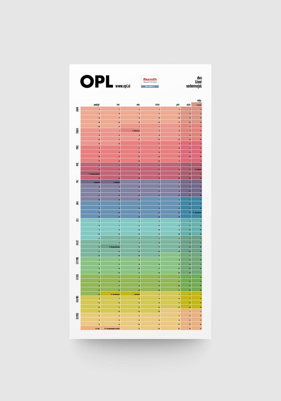Oblikovanje koledarja OPL