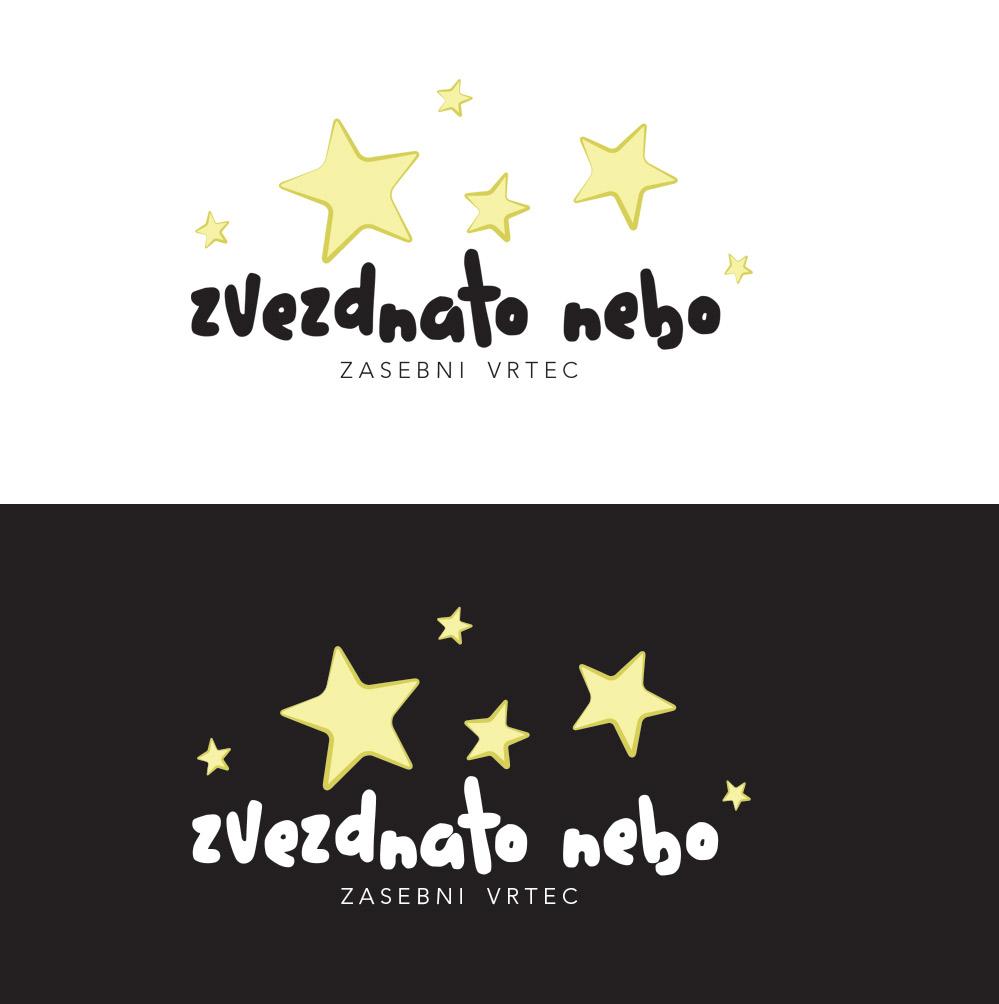 zasebni vrtec Zvezdnato nebo izdelava logotipa