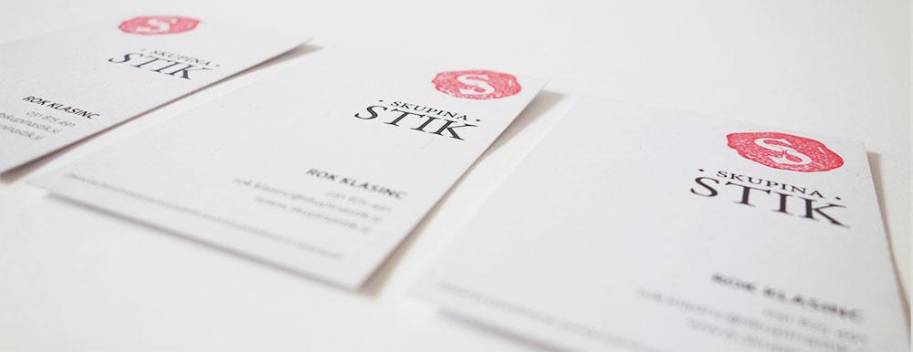 Oblikovanje vizitke Skupina Stik